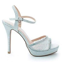 Isabel55 Lace By Blossom, Sparkling Rhinestone Studded Lace Stiletto Heel Pumps