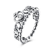 Sterling Silver Pandora Inspired Princess Eternity Ring