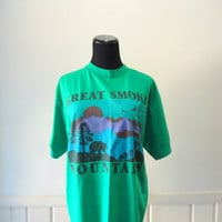 Vintage Great Smoky Mountains T-Shirt Size Large