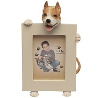 Pit-bull Holding Frame Small Picture Frame