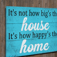Pallet Sign Aaron Watson Country Song Distressed Wood Rustic Shabby Chic Cottage Chic Vintage Turquoise Housewarming Handpainted Wallhanging