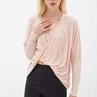 FOREVER 21 Twisted Knit Top Blush Small