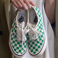 Vans Fashion Anaheim AUT Blue and White Checkerboard High Quality Canvas Shoes for Men and Women