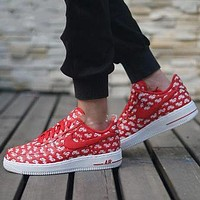 NIKE AIR FORCE 1 tide brand fashion low tops shoes red