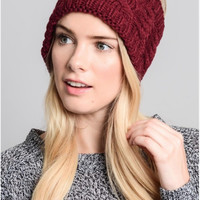 Chunky Cable Knit Headband - 2 Colors