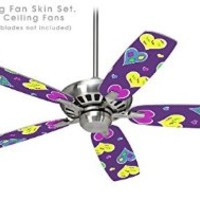 Crazy Hearts - Ceiling Fan Skin Kit fits most 42 inch fans (FAN and BLADES SOLD SEPARATELY)