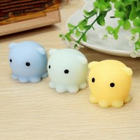 Octopus Squishy Squeeze Healing Kid Toy Gift Stress Reliever Decor Stretch Japan Mochi Squeeze With Box Toy Mobile Phone Strapes