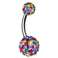 Brilliant Motley Sparkling Belly Button Ring