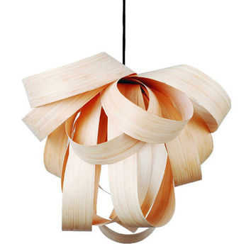 Unique Design Wooden Pendant Lighting - Handcrafted Wood Ceiling Lamp - Living Room Lamps
