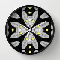 Sphynx Cat Black Pattern Wall Clock by chobopop