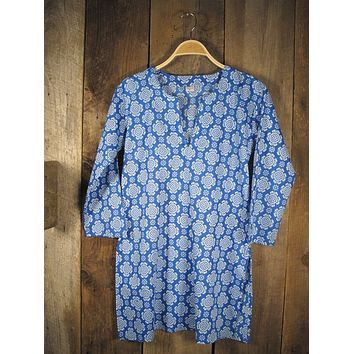 Cotton Tunic Top Tory in Blue