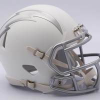SAN DIEGO CHARGERS RIDDELL MATTE WHITE ICE SPEED FOOTBALL MINI HELMET - NEW