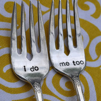 I Do Me Too Dessert Tasting Fork Set by jessicaNdesigns on Etsy