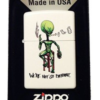 "Zippo Custom Lighter - ""We're Not So Different"" Alien Smoking & Drinking"