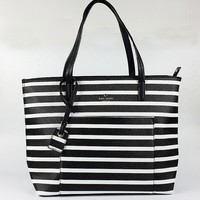 """Kate Spade"" Fashion Multicolor Stripe Tote Single Shoulder Bag Women Large Capacity Casual Shopper Handbag"