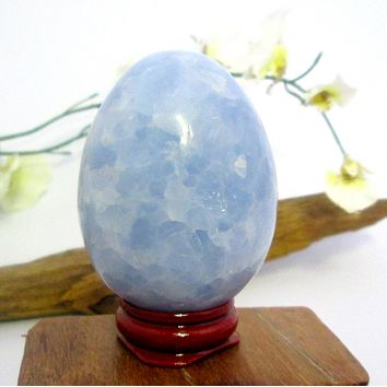 """Grounding & Protecting"" Blue Calcite Egg"