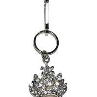 Zipper Bling, Bag Charms, Zipper Pulls, Accent For Purse and Zippers, Crown Charm