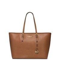 Jet Set Travel Saffiano Leather Top-Zip Tote | Michael Kors