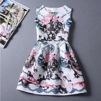 children girls clothes dresses teenage new 2015 pattern costumes for kids big size summer sleeveless cute