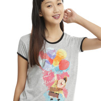 Disney Up House Girls Ringer T-Shirt