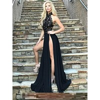Elegant Lace Maxi Dress