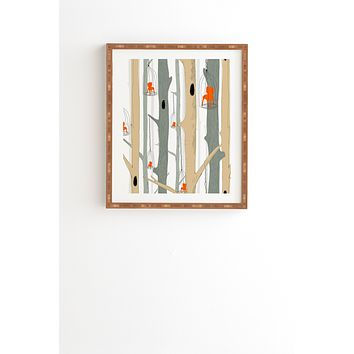 Mummysam Forest Of Chairs Framed Wall Art