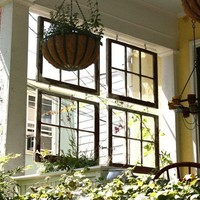 my little house / salvaged windows-- love this idea!
