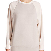 Brunello Cucinelli - Colorblock Cashmere Sweater - Saks Fifth Avenue Mobile