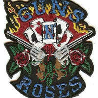 Guns n' Roses Iron-On Patch Playing Cards Logo