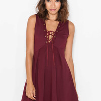 Pleats 'N Thank You Lace-Up Dress
