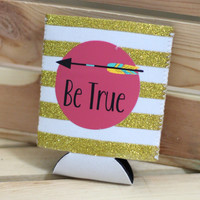 Be True Pocket Koozie {Gold}