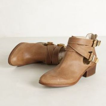 Cross-Buckle Booties by Seychelles
