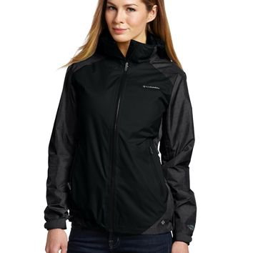 Columbia Women's Hot Thought Jacket (Small, Black Texture)