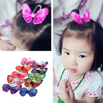 Baby Girls Butterfly BB Hair Clip Pin Alligator Clip Accessories Color
