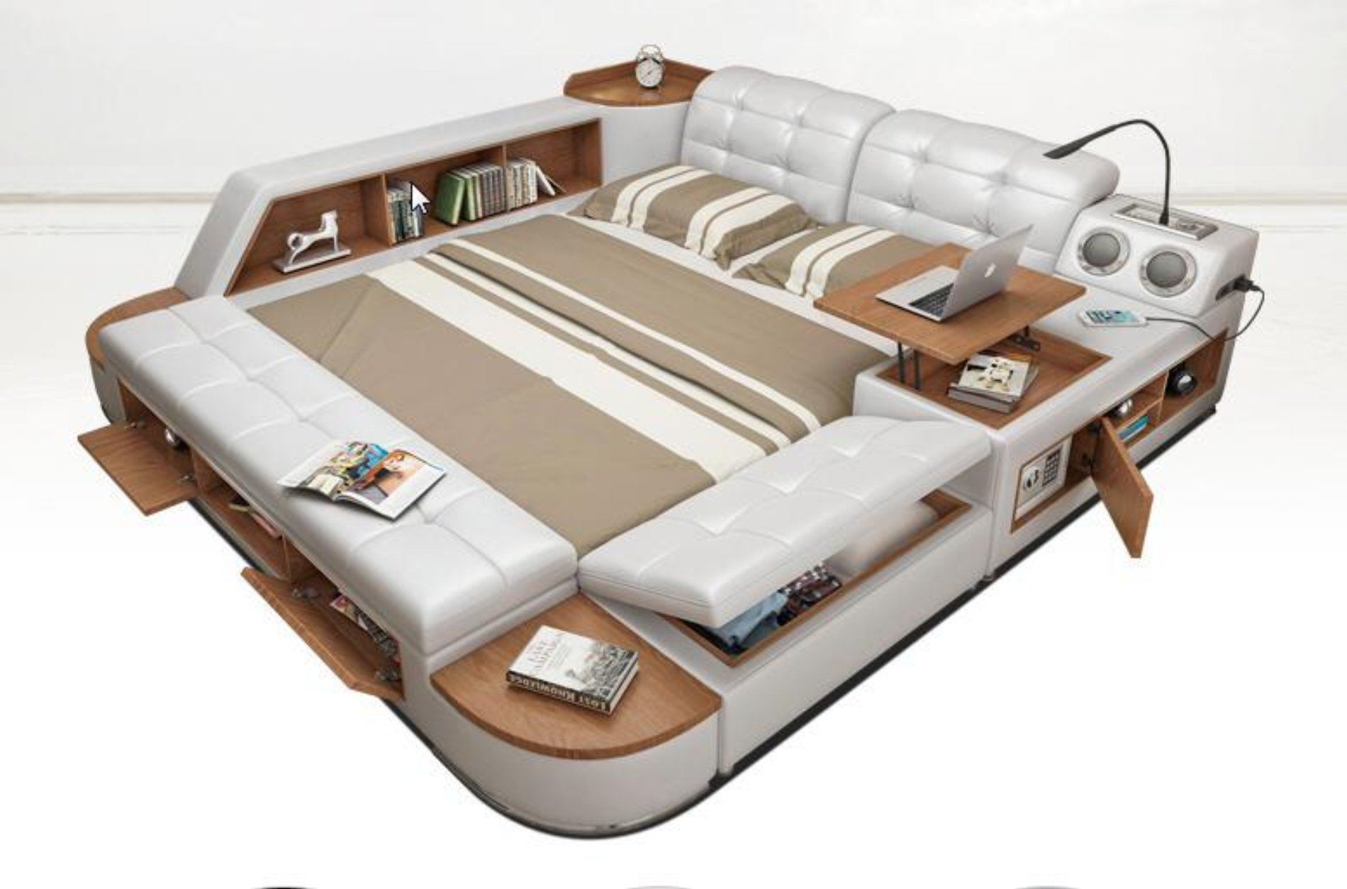 Image of Post Modern Leather Bed