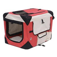 "27"" Portable Travel Folding Crate - Red/Cream"