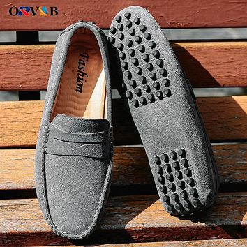 Plus Size 38 49 Men Shoes Real Genuine Leather Leather Shoes High Quality Men Luxury Sneakers Moccasin Loafers Men Driving Shoes