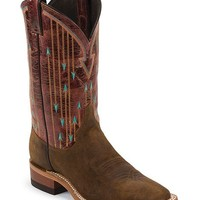 Justin Bent Rail Arrow Stitched Cowgirl Boots - Square Toe - Sheplers