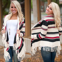 Whispering Winds Fringe Cardigan - Piace Boutique