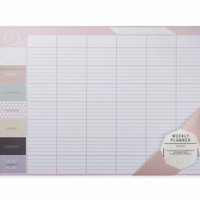 Extra Large Weekly Desktop Planner in Blush Pink by We Live Like This