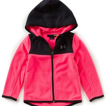 Under Armour Little Girls 2T-6X Hundo Fleece Hoodie Jacket | Dillards