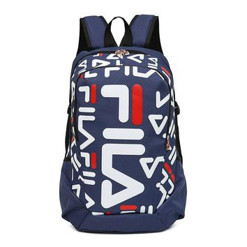 Men's and Women's FILA Backpack Fashion Backpack Student Bags Hot Travel Bag
