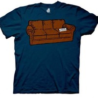 The Big Bang Theory Couch Reserved For Sheldon Navy Adult T-shirt - The Big Bang Theory -   TV Store Online