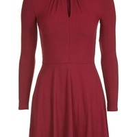 Drape Neck Skater Dress | Topshop