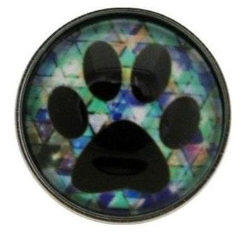 Paw Print Snap 20mm for Snap Jewelry