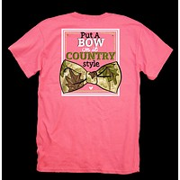 Itsa girl Thing Put A Bow on it Country Style Bright Girlie T-Shirt