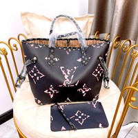LV women's shopping bag mother bag two-piece