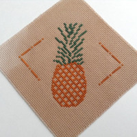 Cross stitch coaster DIY kit Pineapple coaster DIY kit