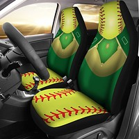 Softball Field Car Seat Covers