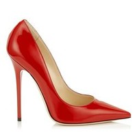 Red Patent Pointy Toe Pumps | Anouk | Autumn Winter 14 | JIMMY CHOO Shoes